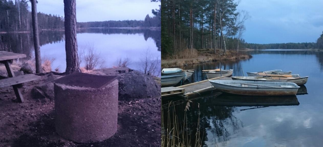 Ny grillplats och båtarna på plats i Stora Hällesjön.